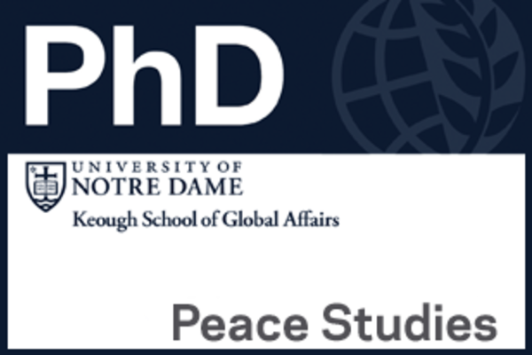 2016 Call for Applications: Ph.D. in Peace Studies
