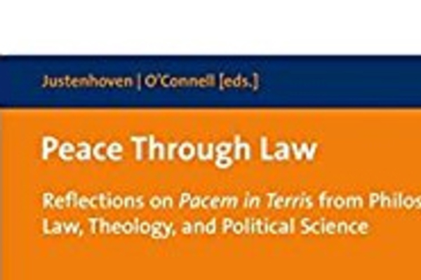 New Book Offers Reflections on Pope John XXIII's Peace Encyclical Pacem in Terris
