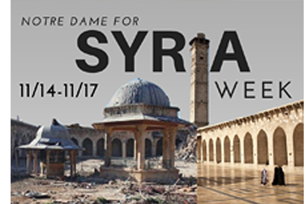 Notre Dame for Syria Week
