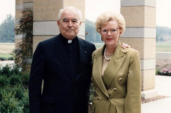 Fr Ted And Mrs Kroc 1991