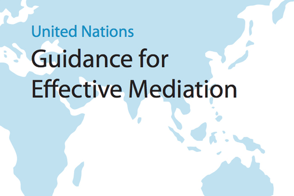 Laurie Nathan runs United Nations High Mediation Course