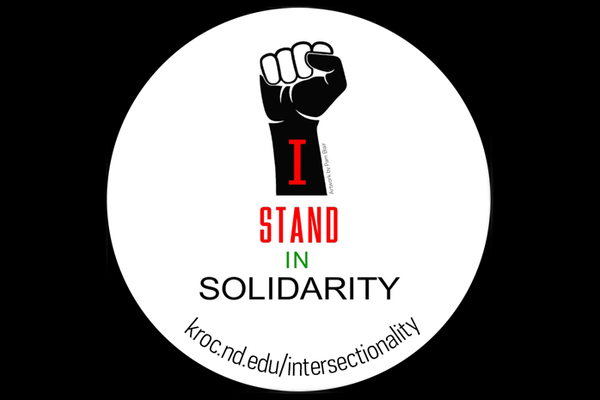 Kroc Institute staff member designs solidarity stickers